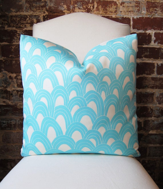 SALE! Schumacher - Trina Turk - Arches - Pool - 20 in square - Indoor/Outdoor - Designer Pillow - Decorative Pillow - Throw Pillow