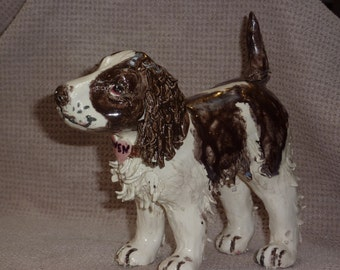 Dog Sculpture one of a kind, Let me make one of your favorite animal, made in USA from a lump of clay.