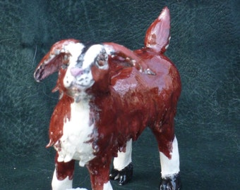 GET Your Goat, Handemade from a lump of clay in USA, Not a mold.