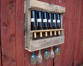Recycled wine rack SMALL
