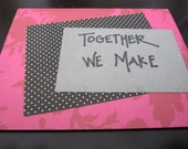 SALE together we make quite the PEAR pink card