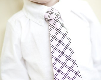 Little Boy Necktie - Pink with Brown Detail