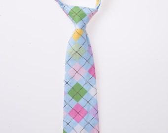Baby Neck Tie - Pastel Argyle - Boys Clothing