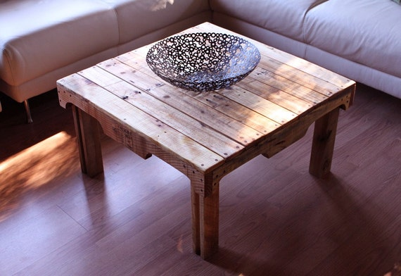 To Rustic Coffee Table Upcycled Pallet Wood Natural Finish On Etsy