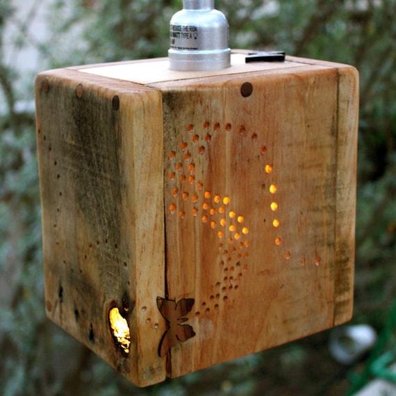 Pallet Floor Lamp: Items Similar To Rustic Pallet Wood Pendant Lamp On Etsy