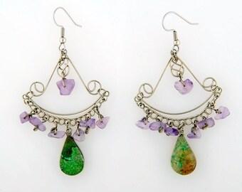 hippie chandelier earrings