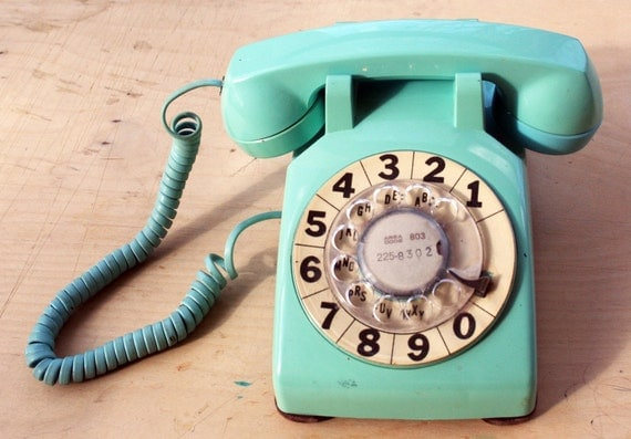 Working Condition Bell System Vintage Rotary Phone- Teal