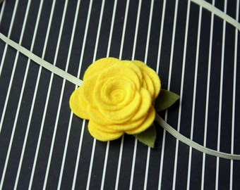 Large Lemon Yellow Flower Headband for baby, newborn, infant, toddler, tween, teen, adult - Photography Prop