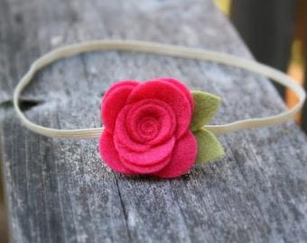 Baby Flower Headband, Watermelon Flower Headband for newborn, baby headband, infant headband, toddler headband, teen, adult - Photo Prop