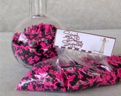 Pink and Black Jimmies Sprinkles - 4 oz. for decorating