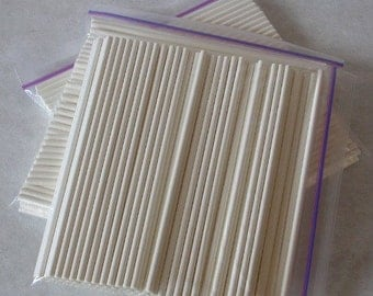 "300 Lollipop Sticks - 6"" White Paper Sticks - For Lollipops - Cake Pops - Marshmallow Pops - Cookie and Brownie Pops - Craft Projects"