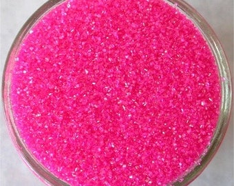 Sprinkles, 3 oz - Hot Pink Sanding Sugar - For Cupcakes - Cake Pops - Cookies - Dipped Pretzels - Ice Cream - Cakes - Desserts - Baby Shower