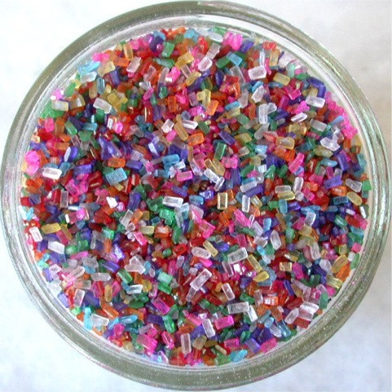 Sprinkles, 3 oz. - Rainbow Mix Shiny Sugar Crystals - For ...