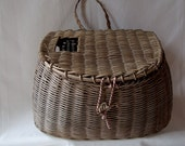 Vintage Fishing Basket Creel