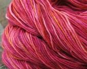 ROSE PETALS hand painted superwash sock yarn