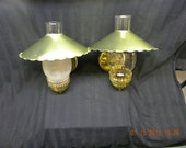 Vintage Pair of  Brass light fixtures colonial style brass 1970s