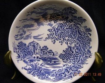 Vintage wedgewood bowls, blue, 1960, set of two