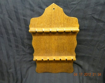 wooden spoon rack collector spoons 1970s