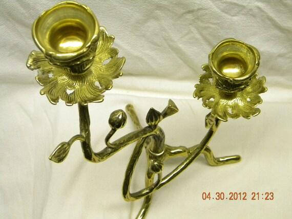 candelabrum brass candle holder, holiday decoration
