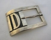 Vintage Mexican Sterling Belt Buckle AA Taxco