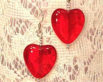 Heart of Glass silver earrings