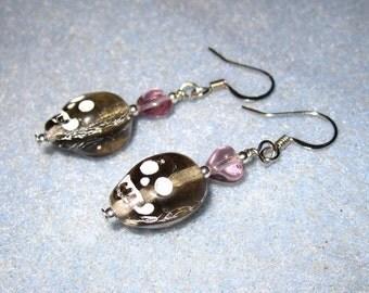 Ghostly skull earrings