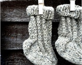 rustic hand knitted pure wool baby socks
