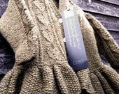 hand knitted wool Cardigan with natural shell buttons