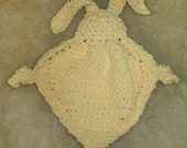 Crocheted Blankie Bunny in Light Yellow