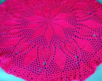 Circular Baby Blanket, Crocheted