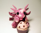 One Last Cupcake - adorable chubby dragon sculpture