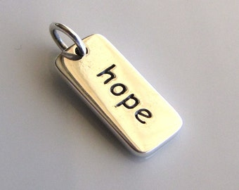 HOPE Sterling Silver Word Charm