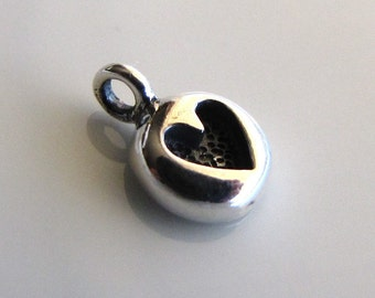 Sterling Silver Mini Cast Heart Charm