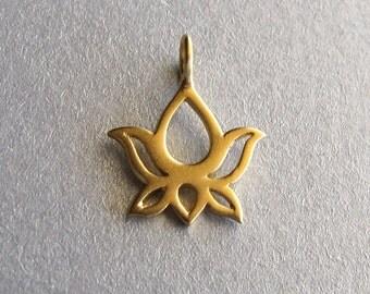 Gold Vermeil Lotus Charm