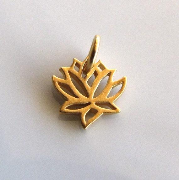Mini 24K Gold Vermeil Lotus Charm