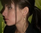 Handmade double teardrop 14k gold earrings--MARKET PRICE