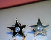 14k yellow gold and diamond STAR studs--MARKET PRICE