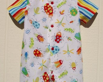Colorful Bugs Baby Romper, Size 6 Months