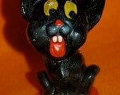 1930s Black Cat Halloween Composition Collectible