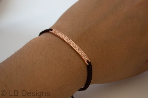 Rose gold Macrame Bracelet