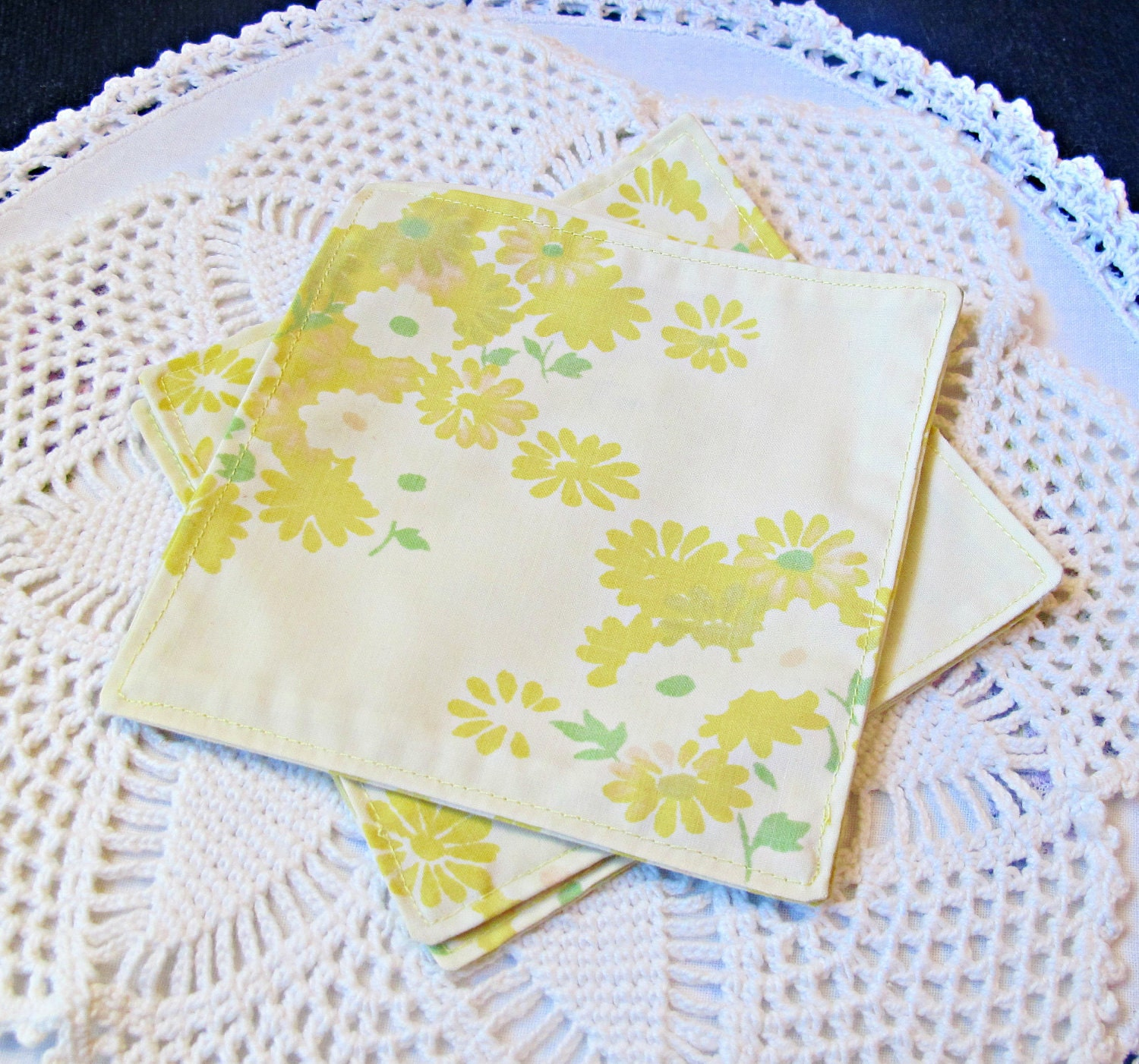 image cocktail napkins fabric reusable eco environmentally friendly yellow domum vindemia party