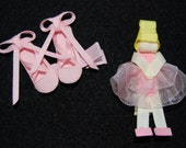 2 Ballerina Slipper and Ballet Dancer SET Hair Clip Barrette Designer Accessory perfect Birthday or Christmas Gift