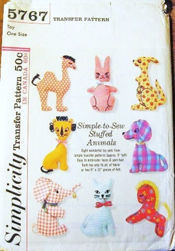 Animal Pattern Sewing Stuffed U00ab Free Knitting Patterns Printable Duck Monkeys