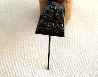 Vintage Pin from Musala Bulgaria Rila mountain Emblem of mountain peak Souvenir Cute rare badge Primitive technology