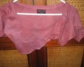 vintage crop top thick Rasberry shredded t-shirt