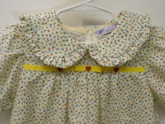 1950's Inspired Little Girl's Calico Cotton Dress . Super Cute and One of a Kind Size 3