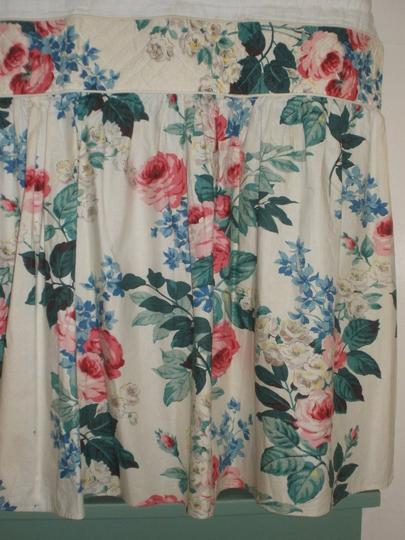 Vintage 1940 S Farm House Kitchen Sink Curtains Quilted