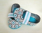 Baby Booties - Newborn, Infant, Baby Slippers, Crib Shoes, Footwear, 0 - 18 Months - Cherry Blossom Mary Janes