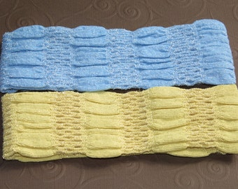 Silver Touch Head Band/Sky Blue and Sun Shine