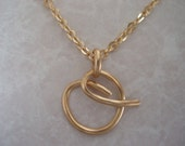 Initial Wire Letter O Necklace